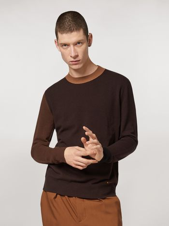 Marni Colour-block virgin wool sweater Man f