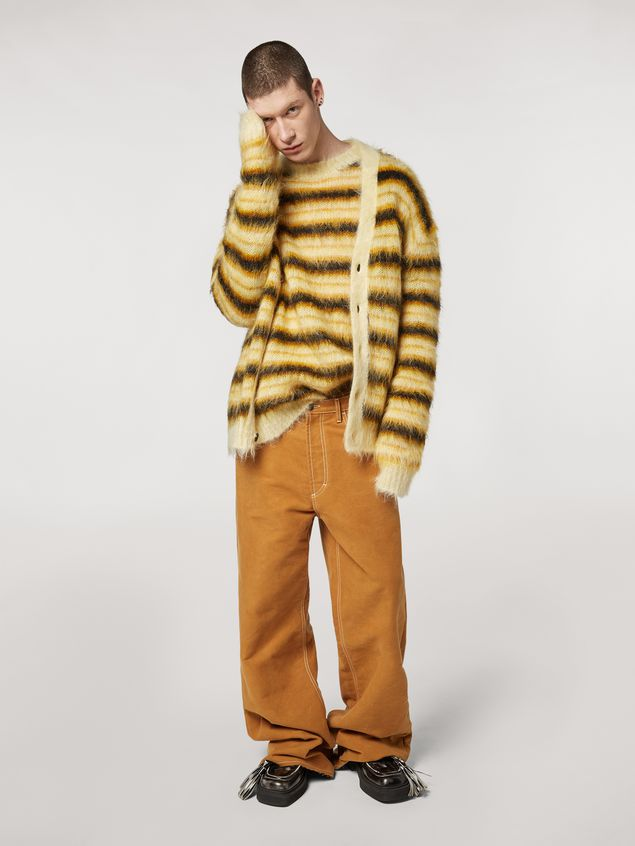 Marni Sweater in striped gauzed mohair Man - 5