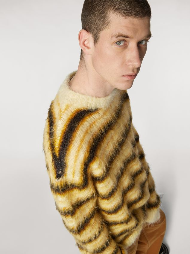 Marni Sweater in striped gauzed mohair Man - 4