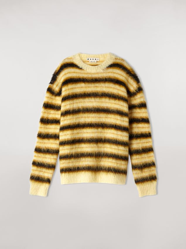 Marni Sweater in striped gauzed mohair Man - 2