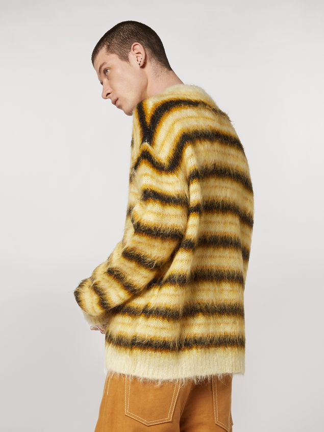 Marni Sweater in striped gauzed mohair Man - 3