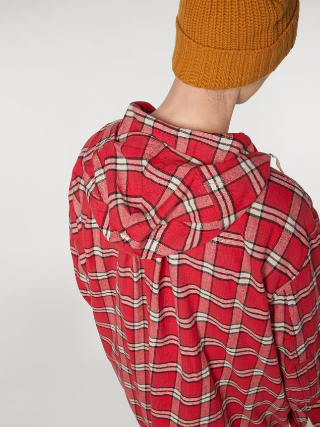 Marni Cotton flannel shirt with hood Man - 4