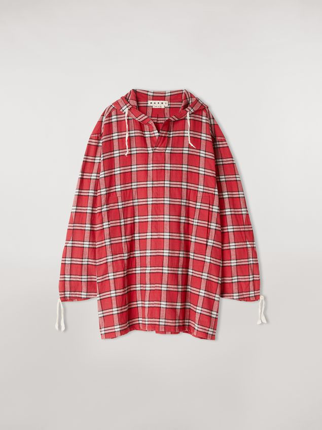 Marni Cotton flannel shirt with hood Man - 2