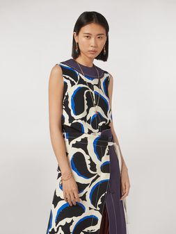Marni Top in viscose cady Teardrop print Woman