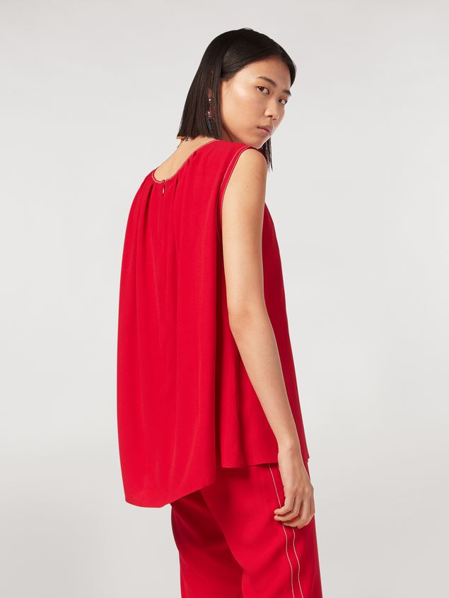 Marni Top in envers crepe satin with zig-zag topstitching Woman