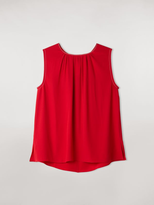 Marni Top in envers crepe satin with zig-zag topstitching Woman - 2