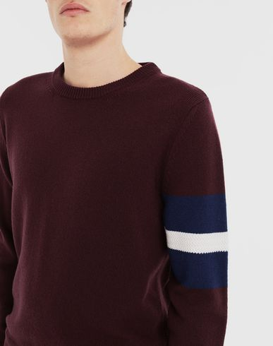 KNITWEAR Stripe sweater  Deep purple