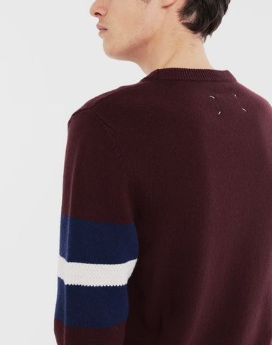 SWEATERS Stripe sweater  Deep purple