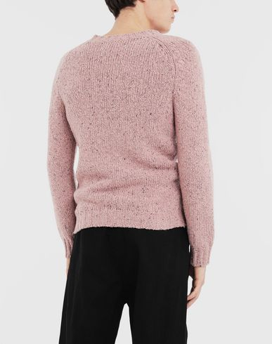 SWEATERS Destroyed hem sweater Pink
