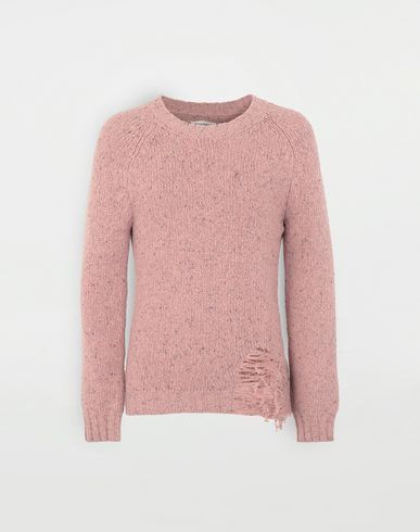 KNITWEAR Destroyed hem sweater Pink