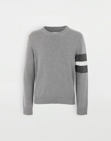 SWEATERS Stripe sweater  Grey