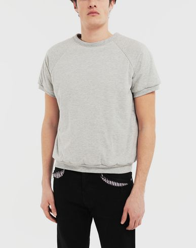 KNITWEAR 'Caution' top  Light grey