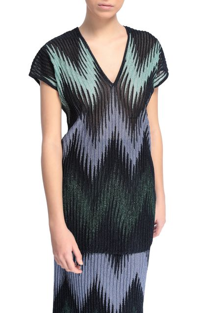M MISSONI Sweater Blue Woman - Front