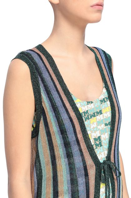 M MISSONI Long cardigan Light green Woman - Front