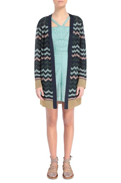 M MISSONI Cardigan Dark blue Woman - Back