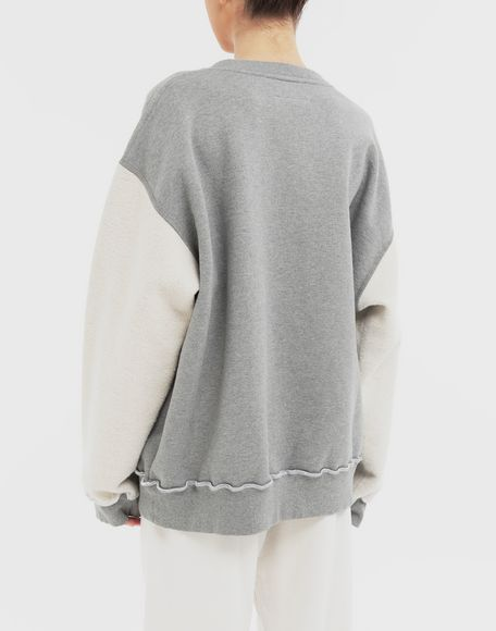 MM6 MAISON MARGIELA Contrast sleeves sweatshirt Sweatshirt Woman e