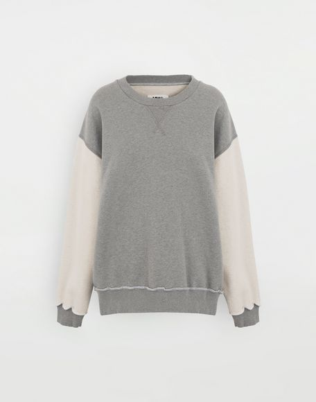MM6 MAISON MARGIELA Contrast sleeves sweatshirt Sweatshirt Woman f