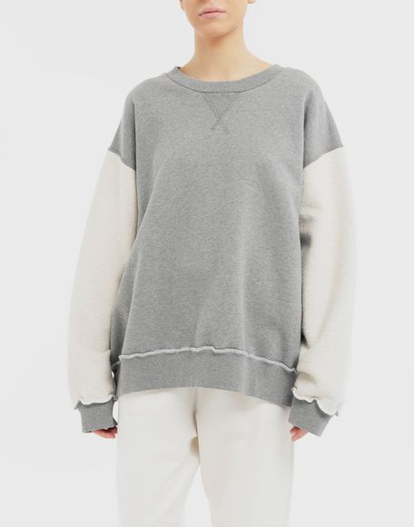 MM6 MAISON MARGIELA Contrast sleeves sweatshirt Sweatshirt Woman r