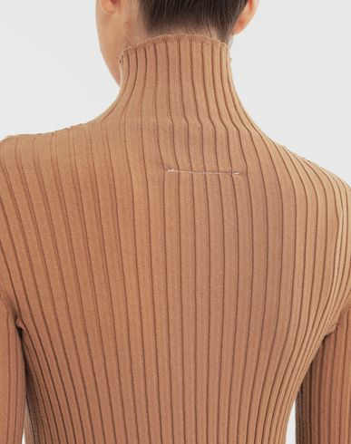 KNITWEAR High-neck pullover Camel