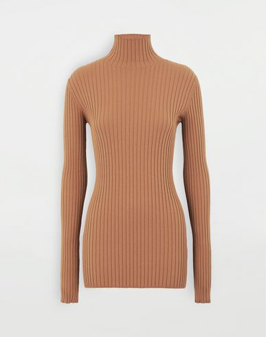 SWEATERS High-neck pullover Camel
