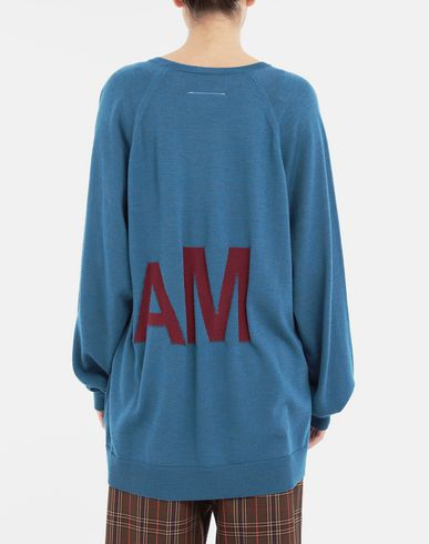 KNITWEAR Reversed logo sweater Pastel blue