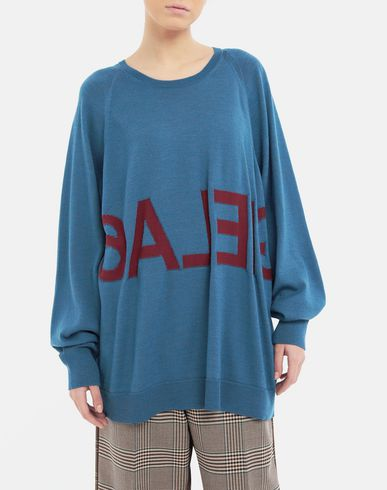 SWEATERS Reversed logo sweater Pastel blue