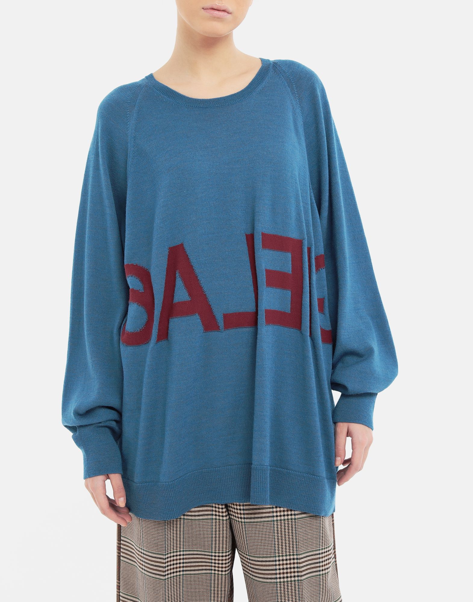 MM6 MAISON MARGIELA Reversed logo sweater Crewneck sweater Woman r