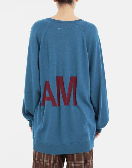 MM6 MAISON MARGIELA Reversed logo sweater Crewneck sweater Woman e