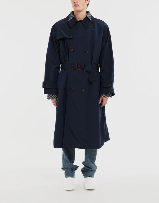 MAISON MARGIELA Combo tonic nylon shirt coat Full-length jacket [*** pickupInStoreShippingNotGuaranteed_info ***] r