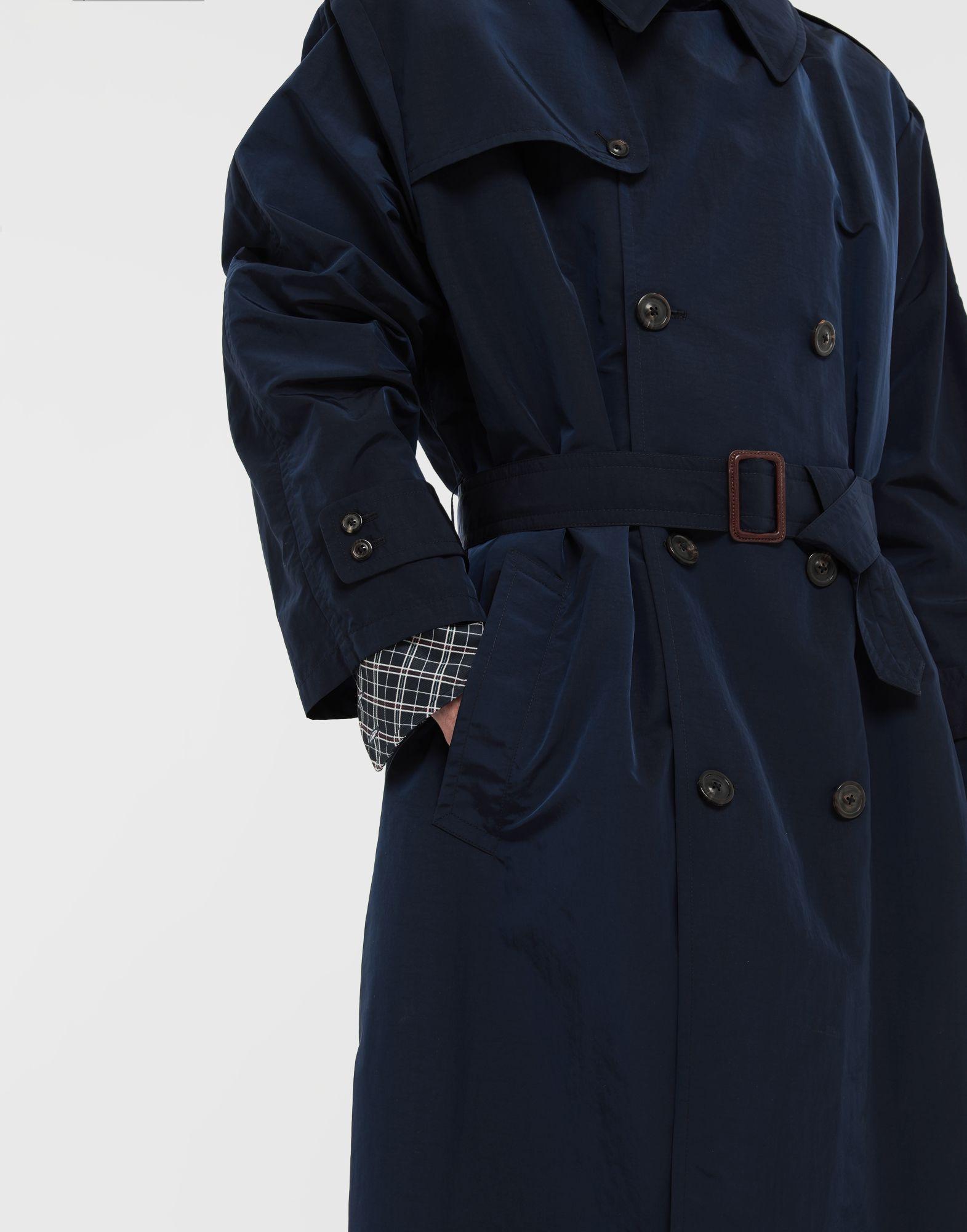 MAISON MARGIELA Manteau à chemise intégrée en nylon tonique Pardessus Homme b