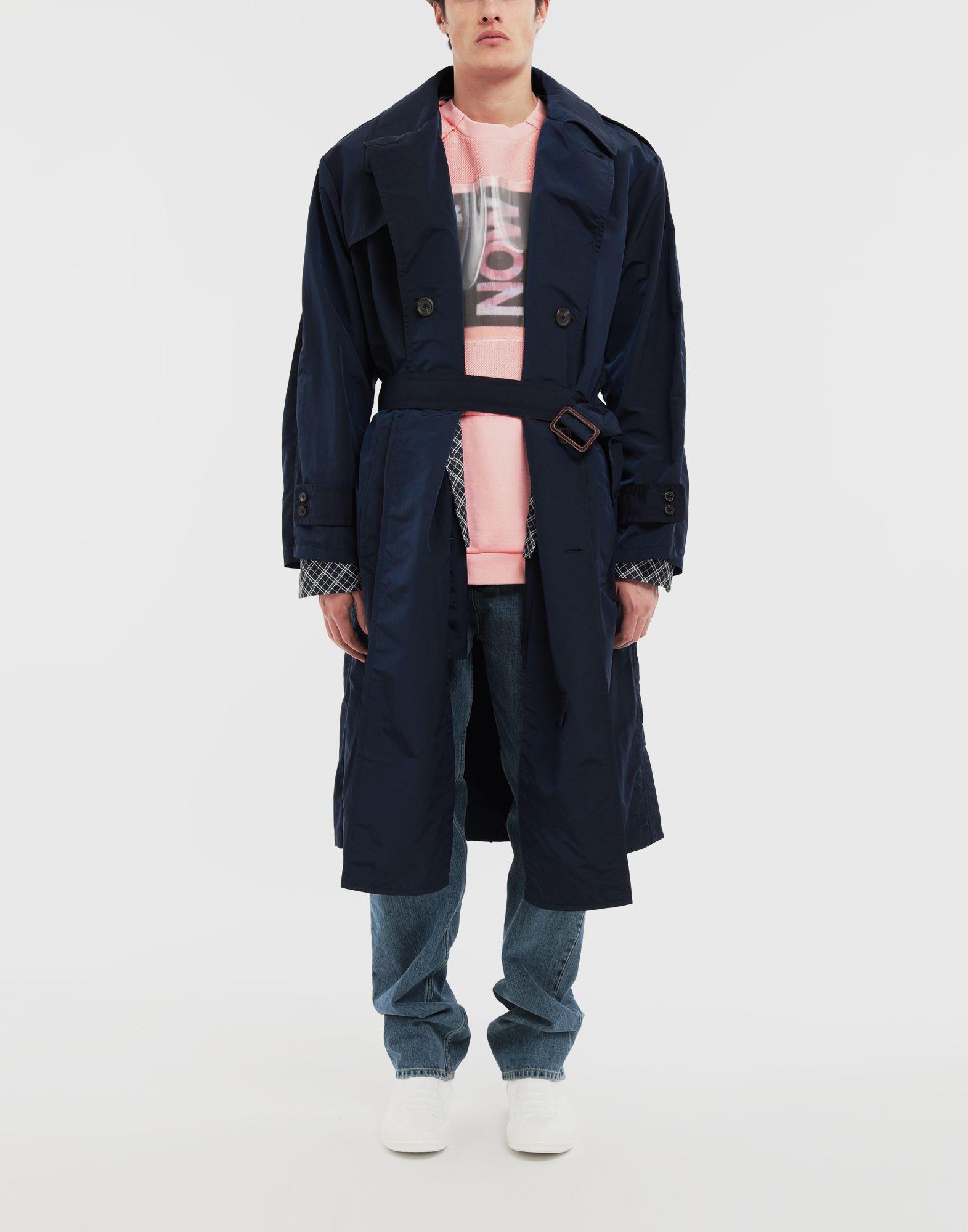 MAISON MARGIELA Manteau à chemise intégrée en nylon tonique Pardessus Homme d