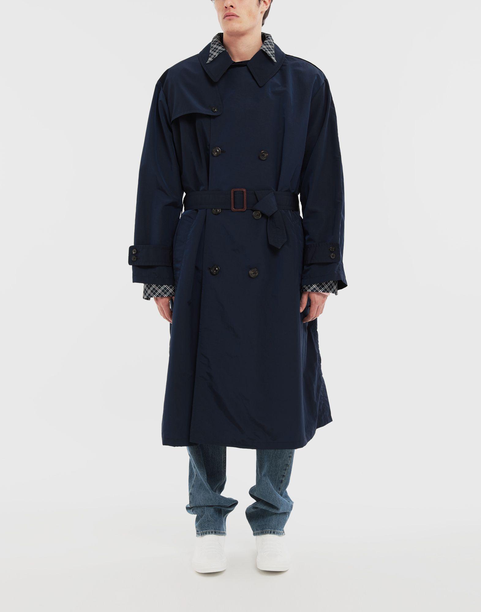 MAISON MARGIELA Manteau à chemise intégrée en nylon tonique Pardessus Homme r