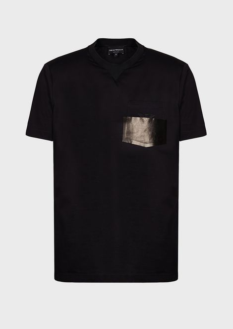 Piqué T-shirt with logoed pocket