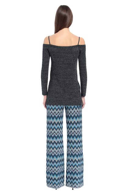 MISSONI Jumper Dark blue Woman - Front