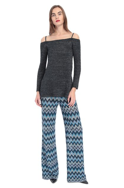 MISSONI Jumper Dark blue Woman - Back