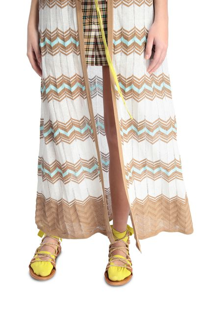 M MISSONI Long cardigan White Woman - Front