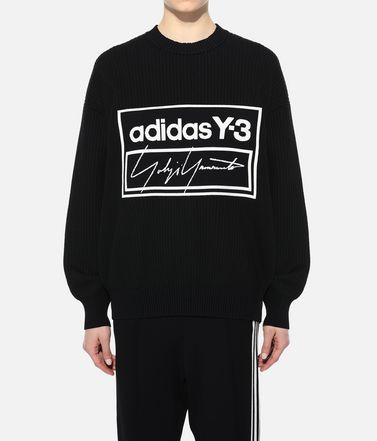 Y-3 Long sleeve jumper Woman Y-3 Tech Knit Crew Sweatshirt r