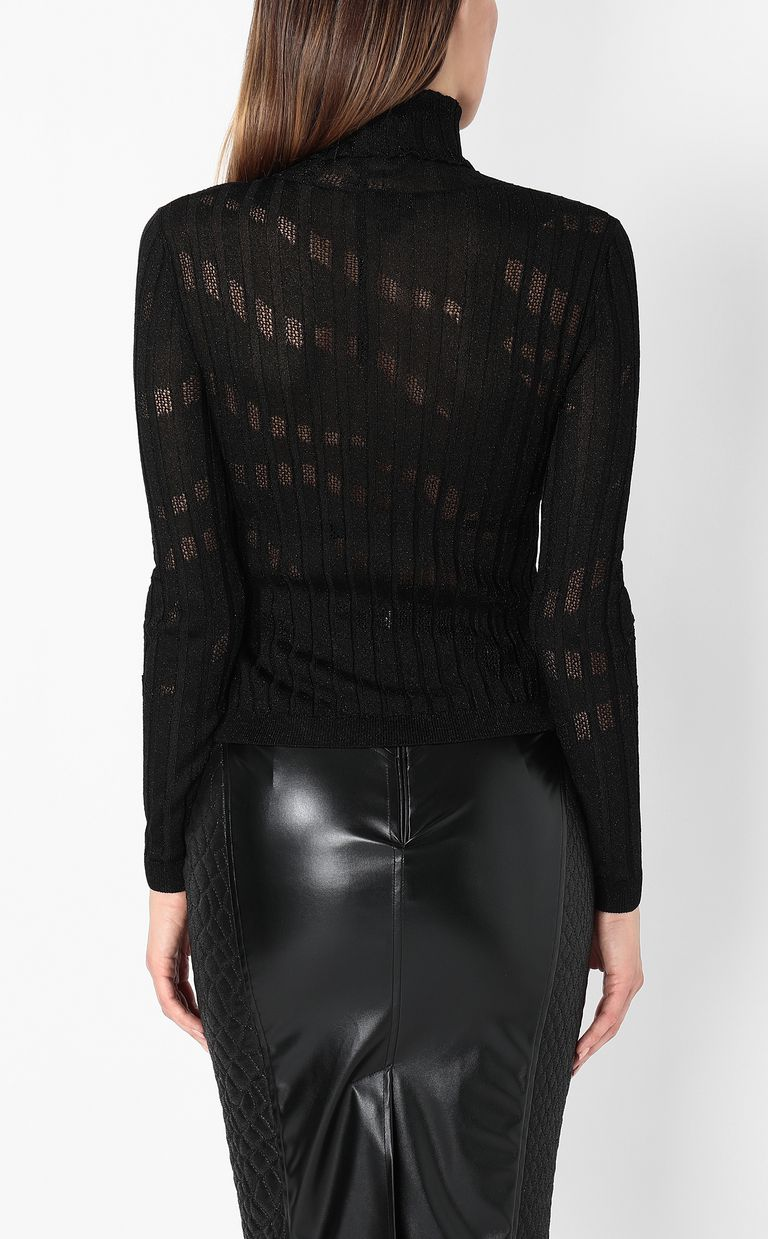 JUST CAVALLI Ribbed pullover High neck sweater Woman a