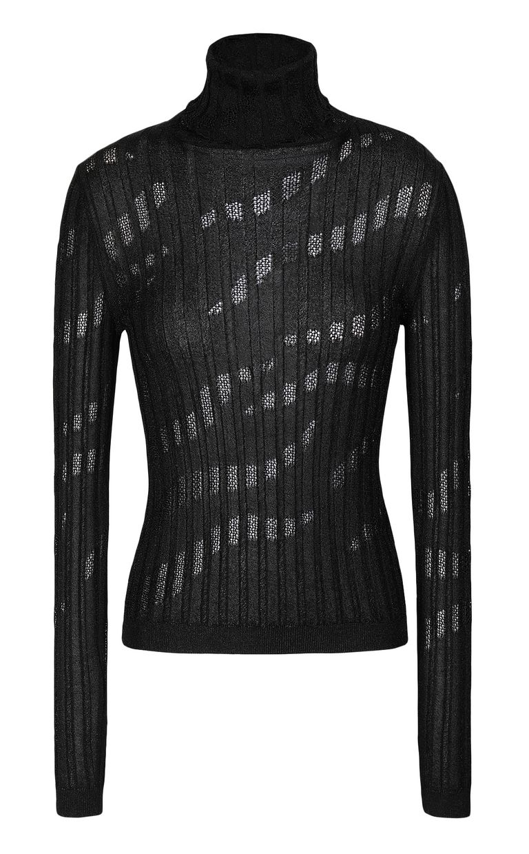 JUST CAVALLI Ribbed pullover High neck sweater Woman f