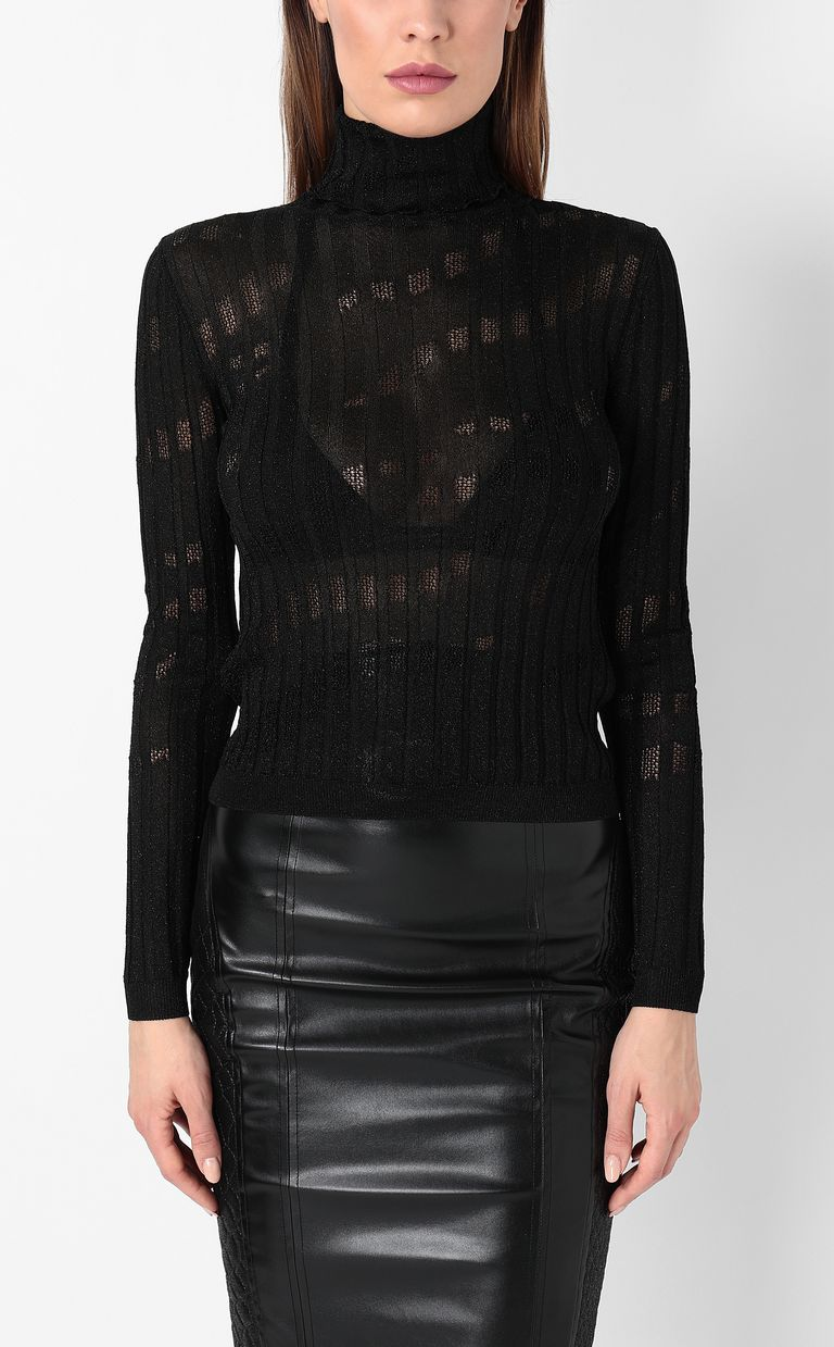 JUST CAVALLI Ribbed pullover High neck sweater Woman r