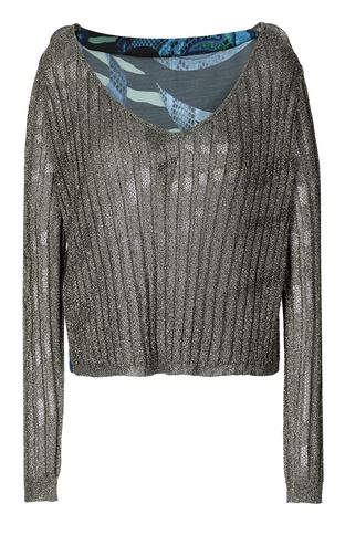 JUST CAVALLI High neck sweater Woman Ribbed pullover f