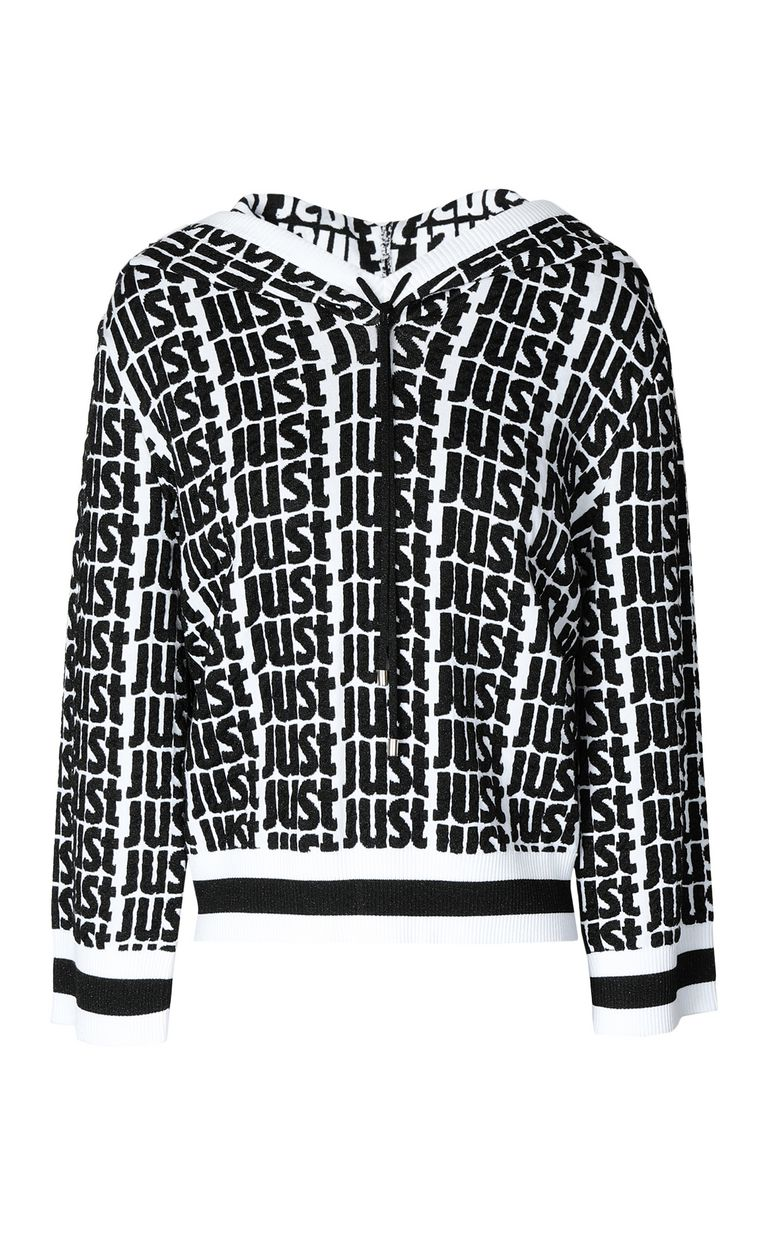 JUST CAVALLI Just-logo sweatshirt with hood Long sleeve sweater Woman f