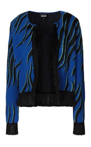JUST CAVALLI Cardigan Woman Jacquard cowskin pullover f