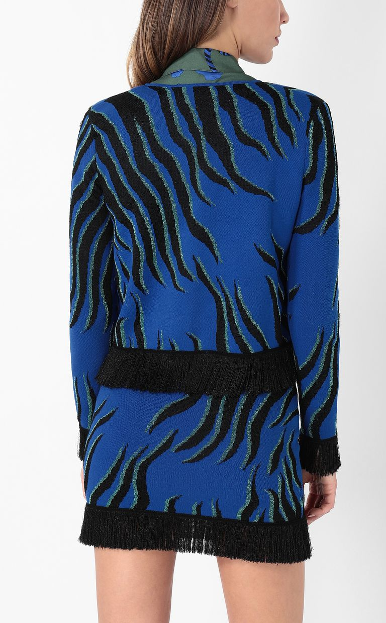 """JUST CAVALLI """"Glowing Zebra"""" print pullover Cardigan Woman a"""