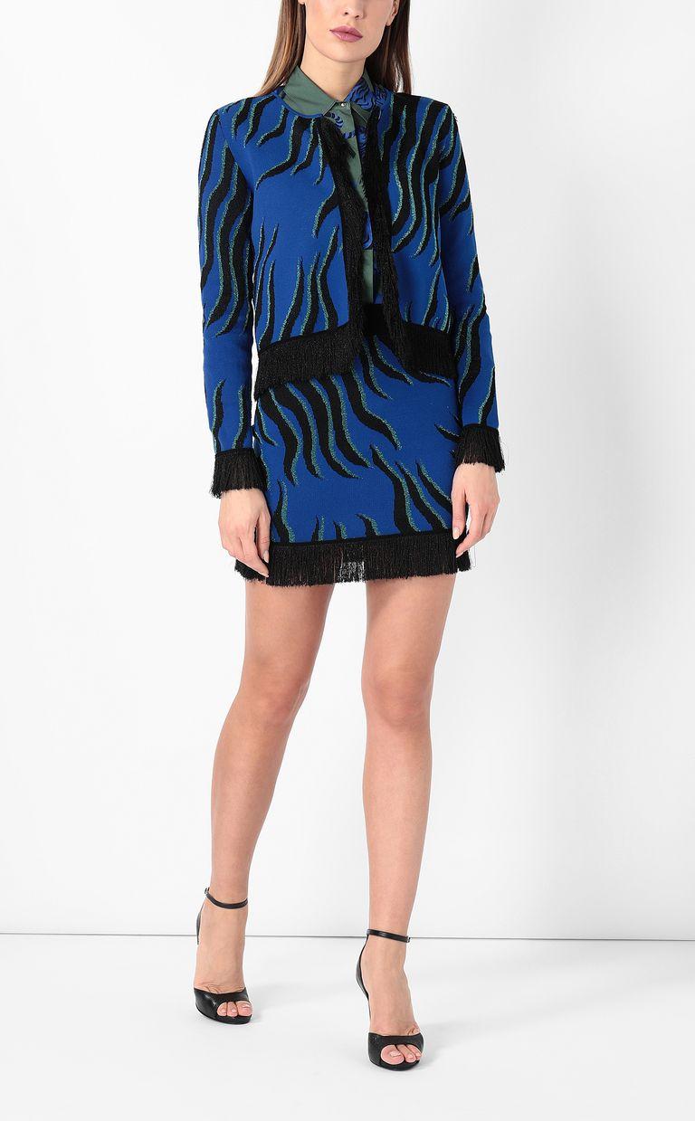 """JUST CAVALLI """"Glowing Zebra"""" print pullover Cardigan Woman d"""