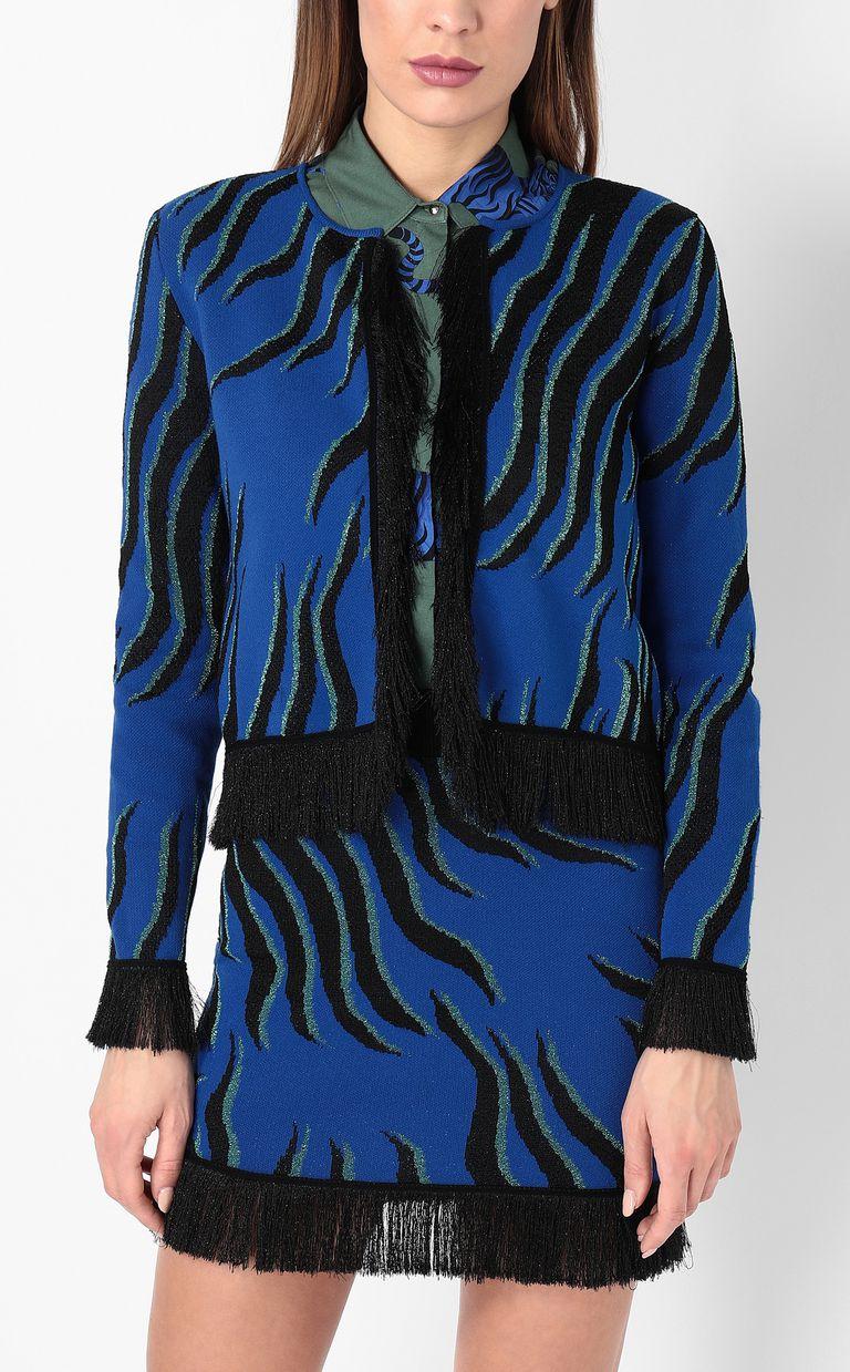"""JUST CAVALLI """"Glowing Zebra"""" print pullover Cardigan Woman r"""