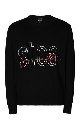 JUST CAVALLI Crewneck sweater Man Pullover with STCA logo f