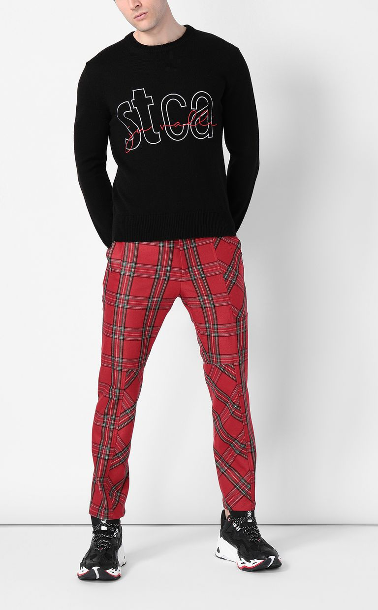 JUST CAVALLI Pullover with STCA logo Crewneck sweater Man d
