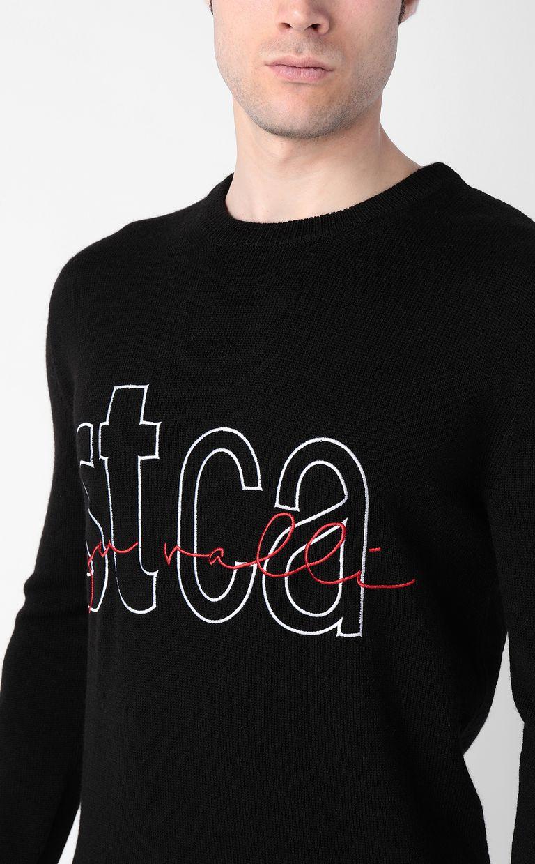 JUST CAVALLI Pullover with STCA logo Crewneck sweater Man e