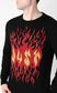 "JUST CAVALLI ""Just flames"" pullover Crewneck sweater Man e"